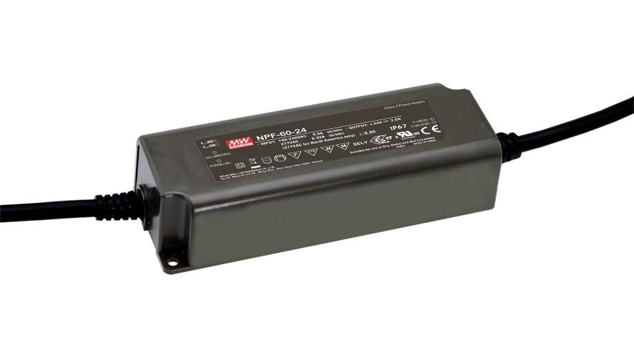 цена на MEAN WELL original NPF-60-24 24V 2.5A meanwell NPF-60 24V 60W Single Output LED Switching Power Supply