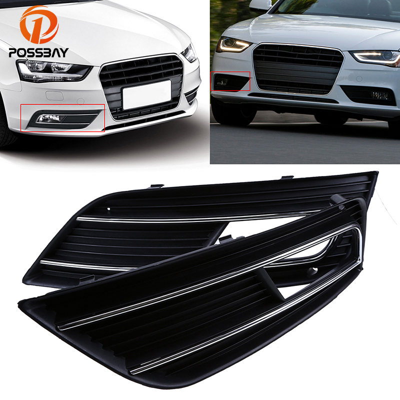 car fog light hood lower grill grille mesh cover for audi. Black Bedroom Furniture Sets. Home Design Ideas