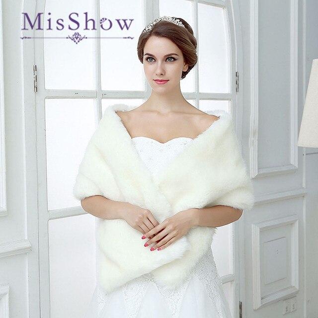 2018 Best Seller Women Shawl Faux Fur Wrap Bolero Wedding Cape