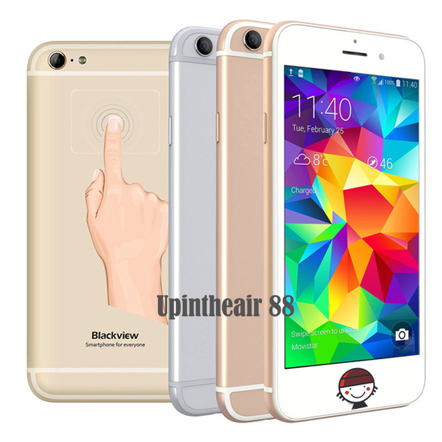 В Наличии Оригинала Blackview Ультра A6 Мобильный Телефон MTK6582 Quad Core 1 ГБ RAM 8 ГБ ROM 4.7 Дюйма Назад Сенсорный 8.0MP CAM 2200 мАч Телефон