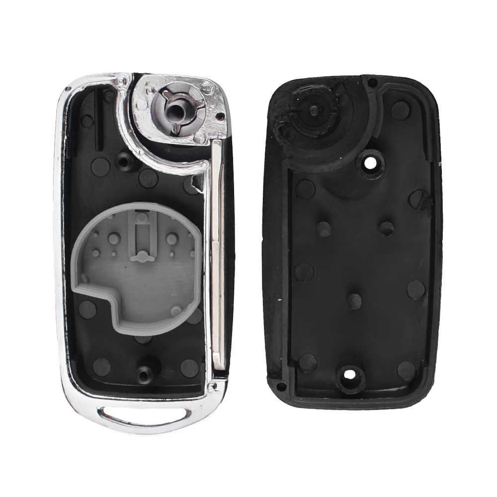 KEYYOU kesim/kesilmemiş Blade Suzuki Swift için garaj Vitara Alto 2 düğmeler çevirme katlanır araba anahtar kovanı yükseltme