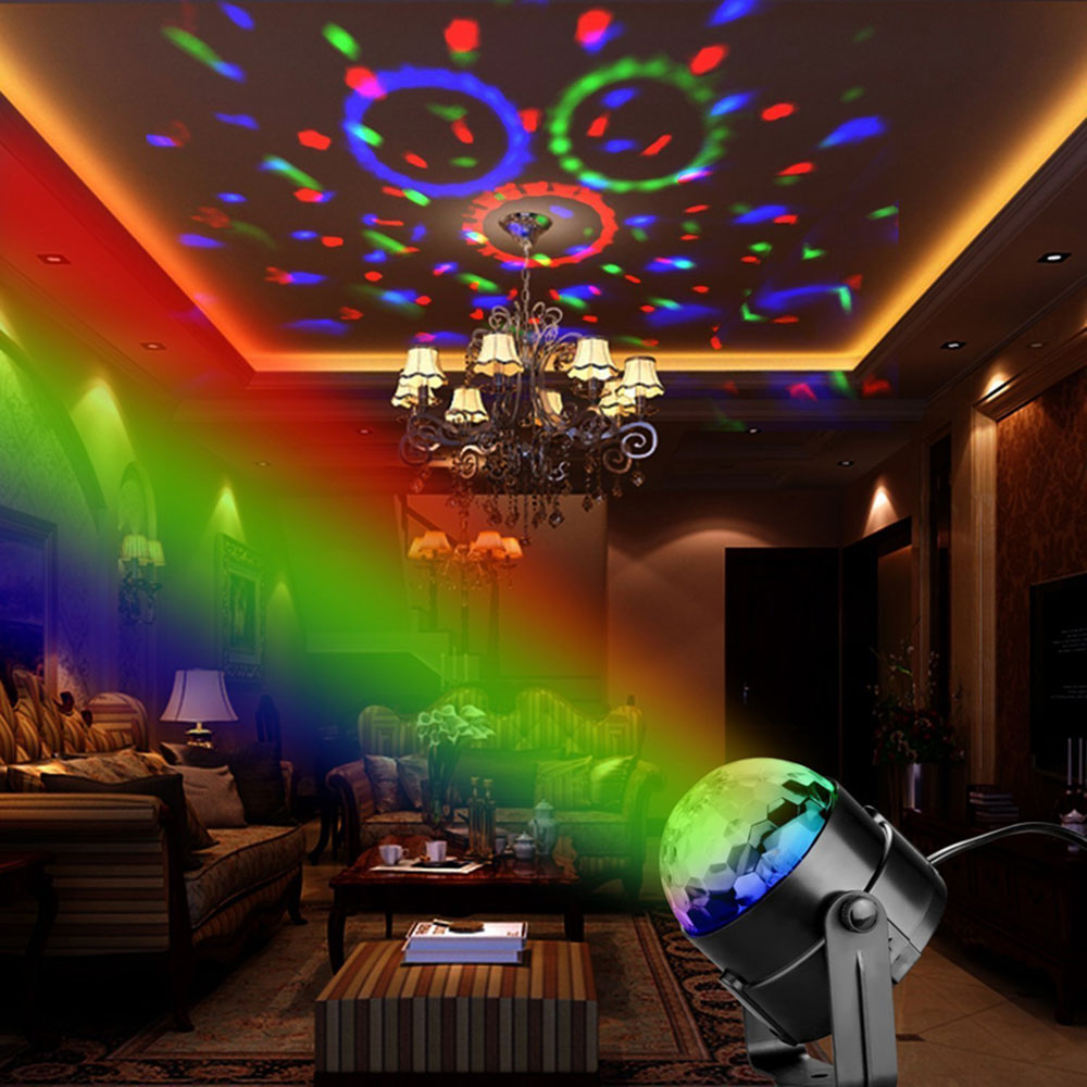 5W RGB RGB LED Stage LED Disco Ball Dj Disco Ball Stage Light Chrismas Party Lights Projector Auto Sound Activate LED Lamp