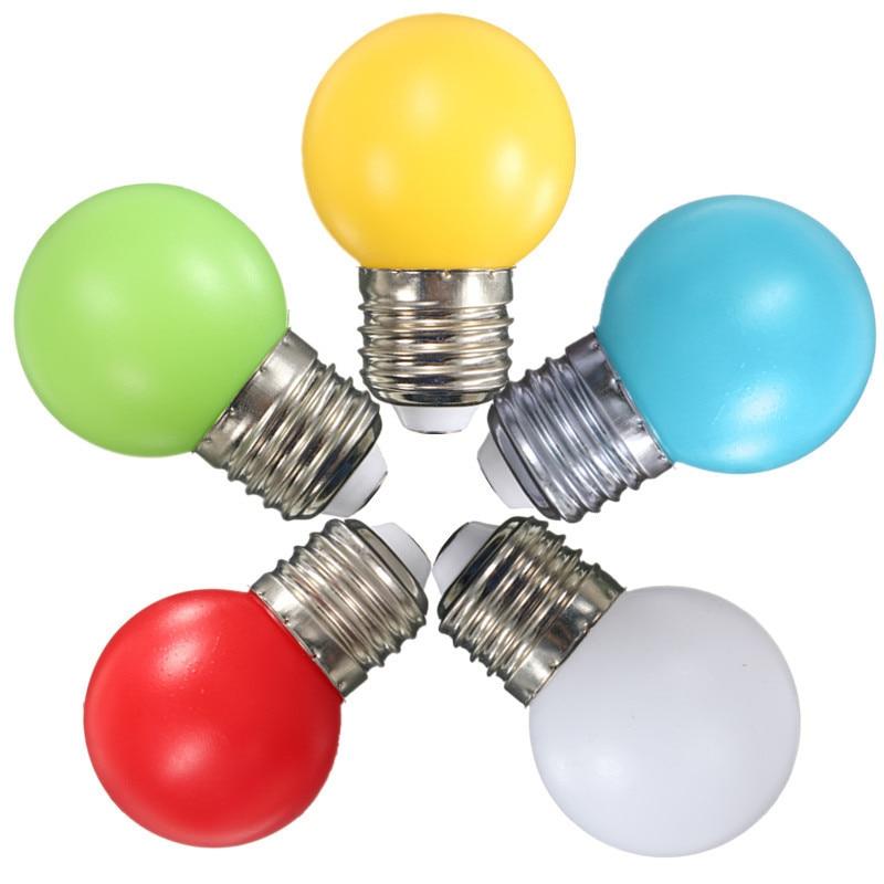 Newest Colorful LED Light Bulb E27 Golf Ball Globe LED Lamp Bulb 1W 2W 3W Energy Saving Lamp Home Decor LED Light 110-240V