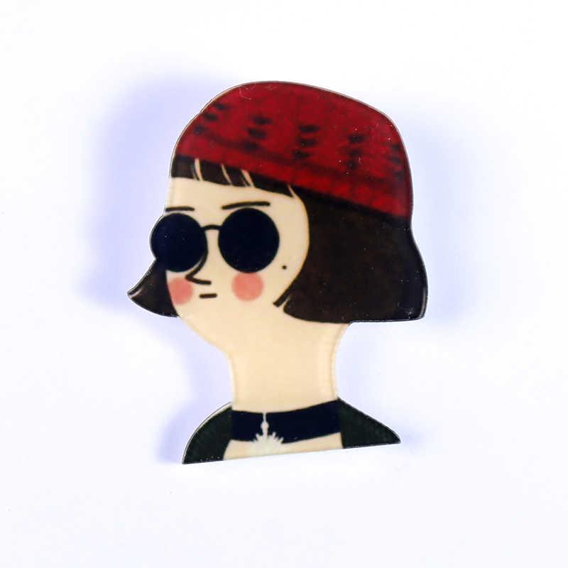 Y38 значки с героями мультфильмов в стиле «лолита» Leon фильм значок акриловая брошь для одежды, стильный школьный рюкзак с модным декоративные шпильки аксессуары в стиле харакзюку 5