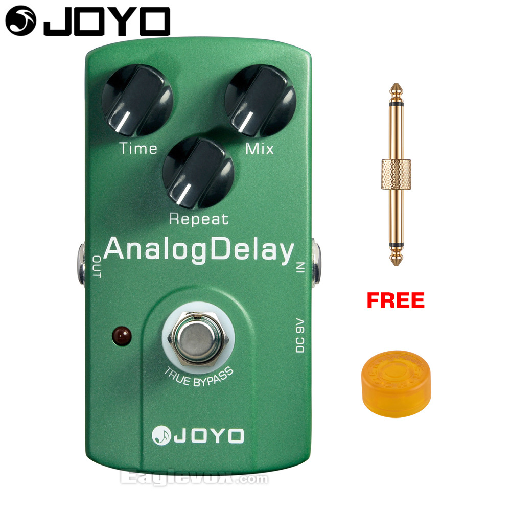 JOYO Analog Delay Electric Guitar Effect Pedal True Bypass JF-33 with Free Connector and Footswitch Topper mooer hustle drive distortion guitar effect pedal micro pedal true bypass effects with free connector and footswitch topper