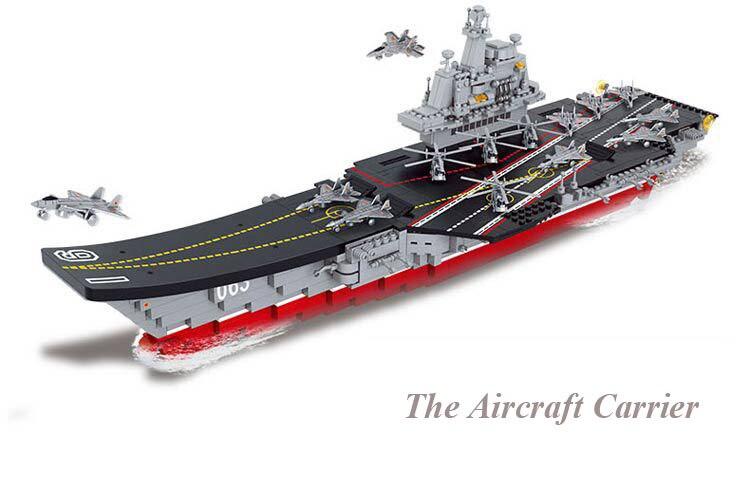 Marque 1059 pièces blocs de construction porte-avions 1:450 modèle jouets enfants éducatifs bricolage briques créatives jouet pour cadeau de garçon