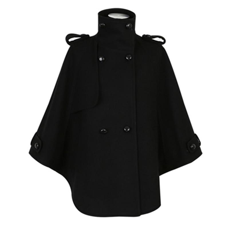 Women Black Wool Cloak Coat Promotion-Shop for Promotional Women