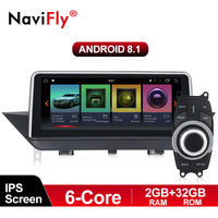 NaviFly IPS Six core 2G+32G PX6 Android 8.1 car GPS multimedia player for BMW X1 E84 2009 2015 Without screen or CIC system