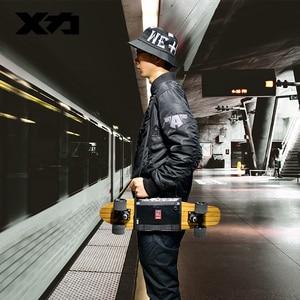 Image 1 - MACKAR Pro 25x21cm Skateboard Carrying Straps Bags 22x16cm Small Cruiser Board Packs Men Rubber Coating Material Handbags