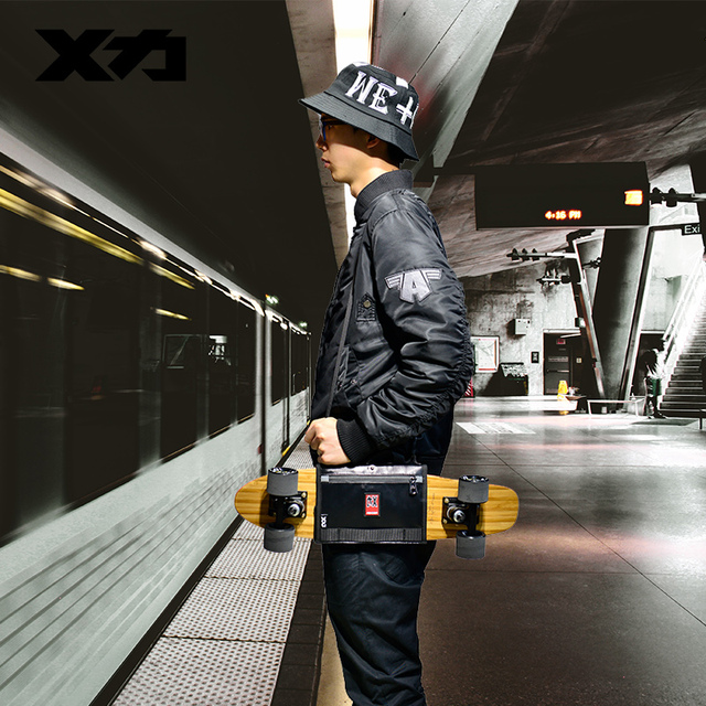MACKAR Pro 25x21cm Skateboard Carrying Straps Bags 22x16cm Small Cruiser Board Packs Men Rubber Coating Material Handbags