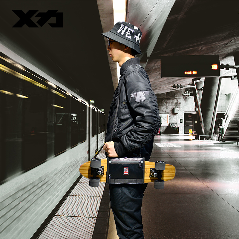 Mackar Pro 25x21 см скейтборд ремни для переноски сумки 22x16 см Малый крейсер доска пакеты мужчин резиновая покрытие Материал сумки-in Скейтборд from Спорт и развлечения
