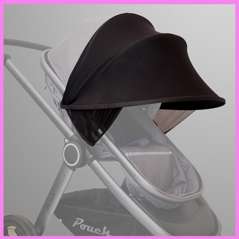 Baby Stroller UV Sunshade Cover for Pram Baby Stroller Accessories Rain Cover Windproof Sunscreen Sun Shade Cover Umbrella