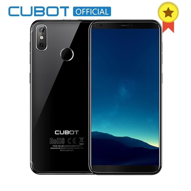 Cubot R11 Android 8.1 18:9 2GB 16GB MT6580 Quad Core Fingerprint Smartphone 5.5'' 1440x720 HD+Screen Dual Back Cameras Celular