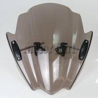 Motorcycle Windshield For 2004 2015 Kawasaki Z1000 Z800 Z250 Z300 Z750 Z750R ABS Plastics Windscreen Deflectors