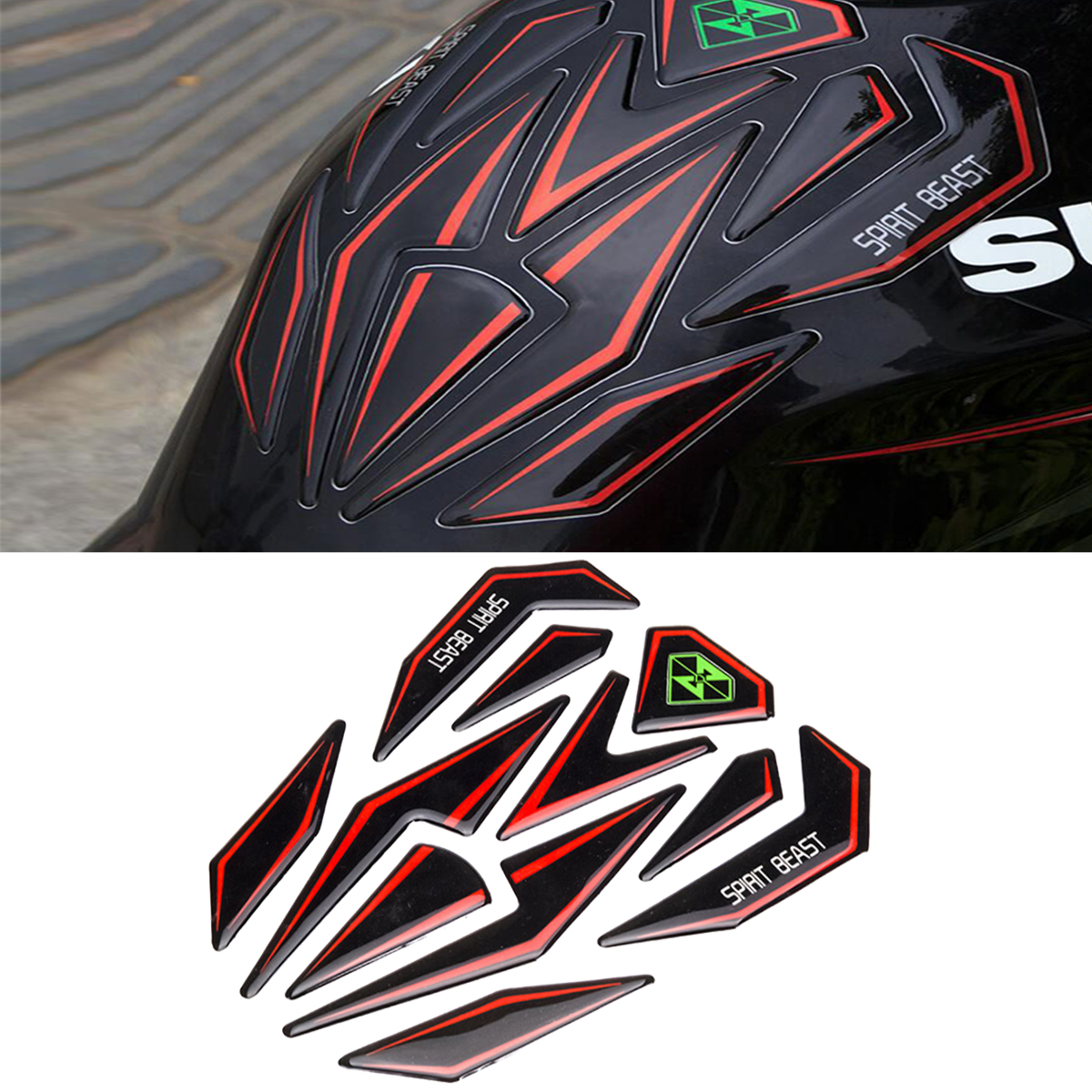 Universal Reflective 3D Motorcycle Oil Gas Fuel Tank Pad Tankpad Protector Sticker Decal Gel For Honda For Yamaha