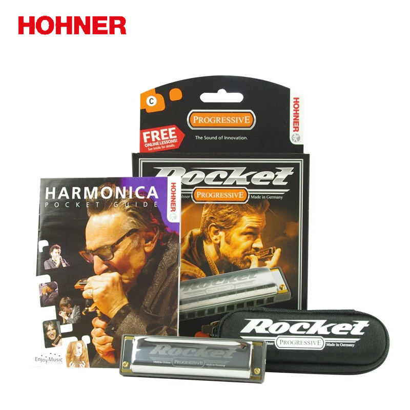 Hohner 10 Hole Rocket Diatonic Harmonica Resin Comb Blues harp, Key of C hohner hc 06