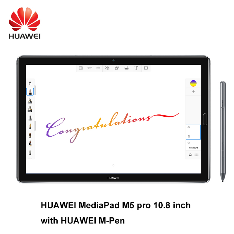 Huawei MediaPad M5 pro 10.8 pouces octa core 4G Ram 64G Rom Wifi/LTE Android 8.0 2 K IPS 2560x1600 empreinte digitale Android 8.0