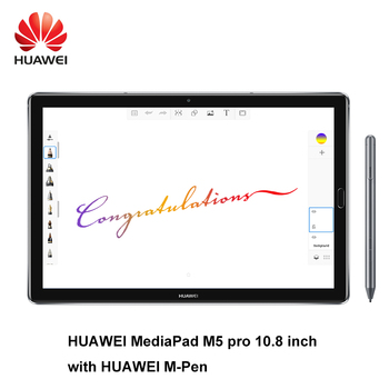 Cargadores de coche Huawei MediaPad M5 pro 10,8 pulgadas octa core 4G Ram 64G Rom Wifi/LTE Android 8,0 2 K IPS 2560x1600 huellas dactilares Android 8,0