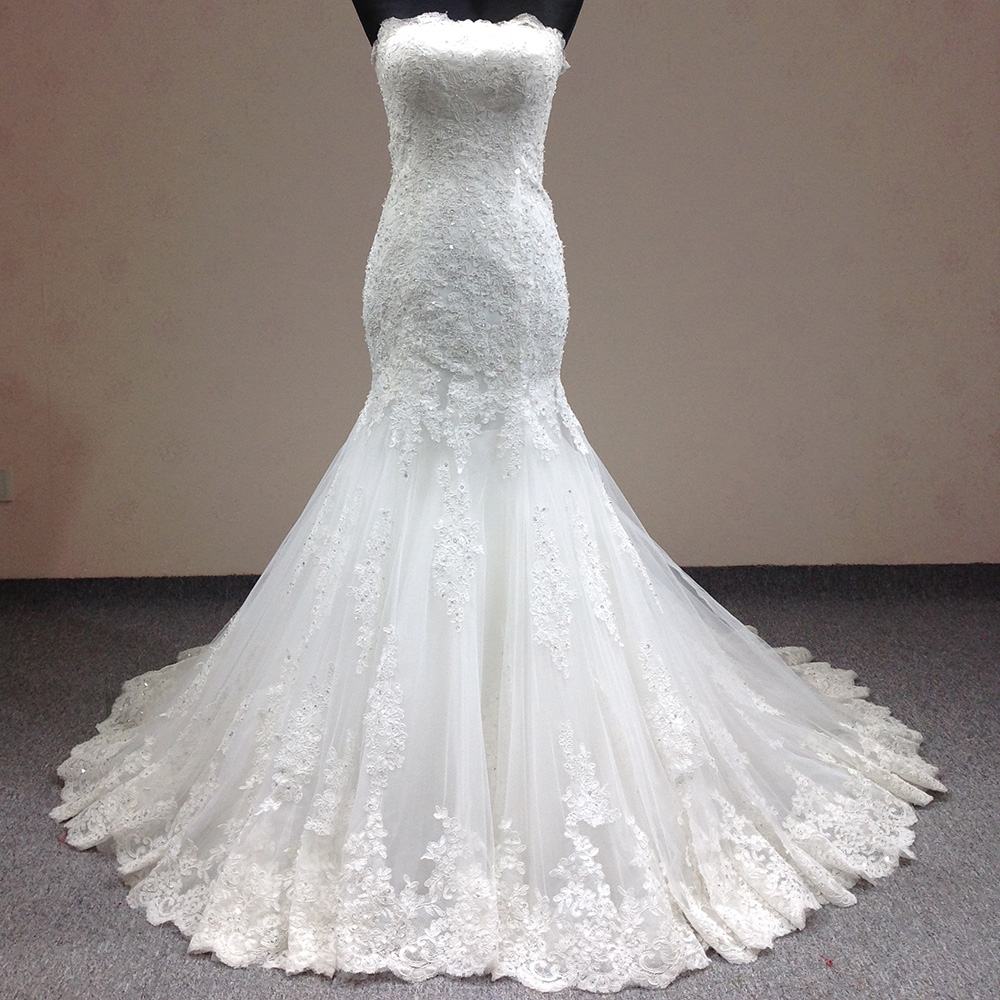 Buy real sample lace mermaid wedding for Cheap lace mermaid wedding dresses