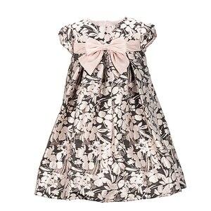 Yatheen/жаккардовое платье А-силуэта с металлическим рисунком для маленьких девочек, детские праздничные платья