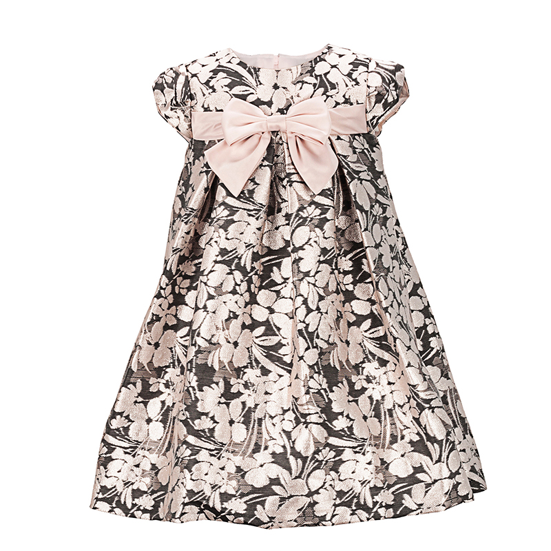 Yatheen Little Girl And Inflat Metallic Jacquard A-line Dress Kids Party Dresses