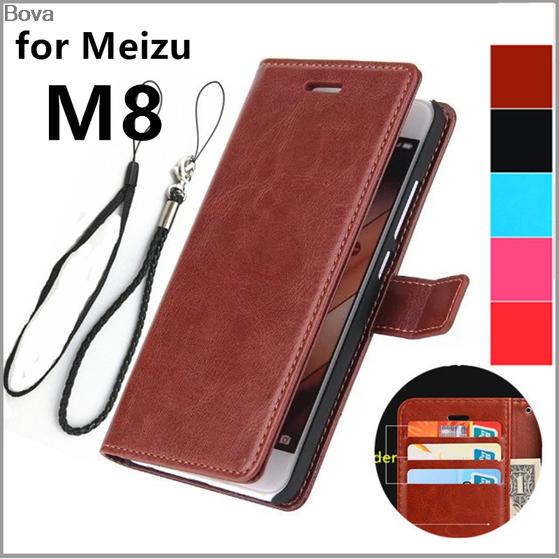 Card Holder Cover Case For Meizu M8 Pu Leather Case For Meizu M8 (5.7