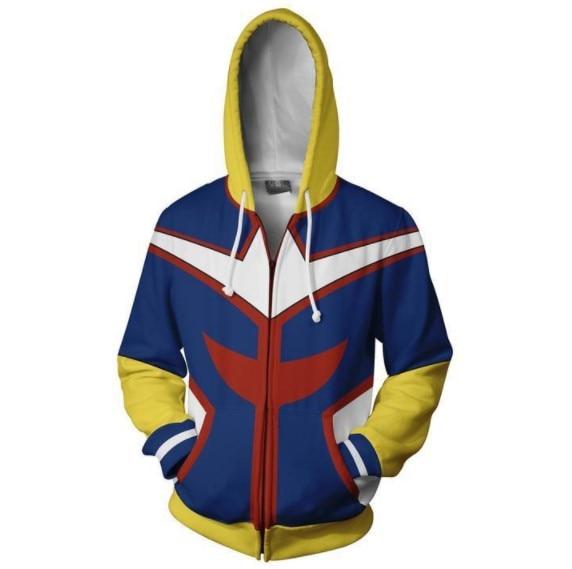 Hot Sale My Hero Academy 3D Digital Print Zipper Sweatshirts Hoodies For Men's Women's Long Sleeve Hooded Pocket Pullovers Tops