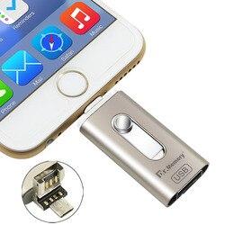 3in1 OTG USB flash jazdy wysokiej prędkości 16G 32G 64G Pen Drive dla Iphone 6 s 7 Plus USB do telefonów komórkowych 2.0 pendrive dla IOS Android