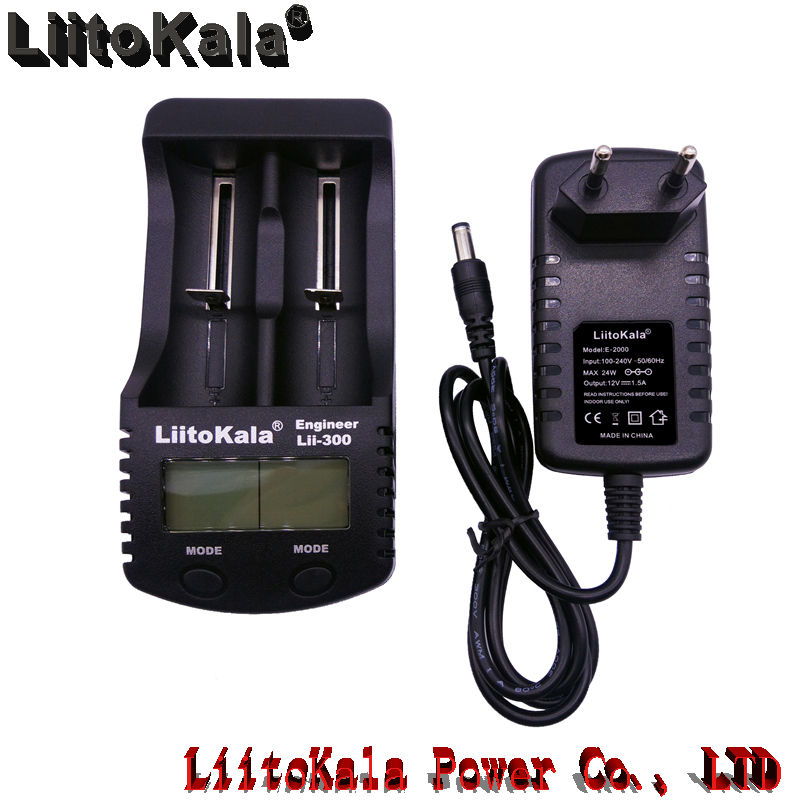 Liitokala lii-300 18650 charger double slot smart LCD measuring capacity USB mobile power Ni MH 26650 charging