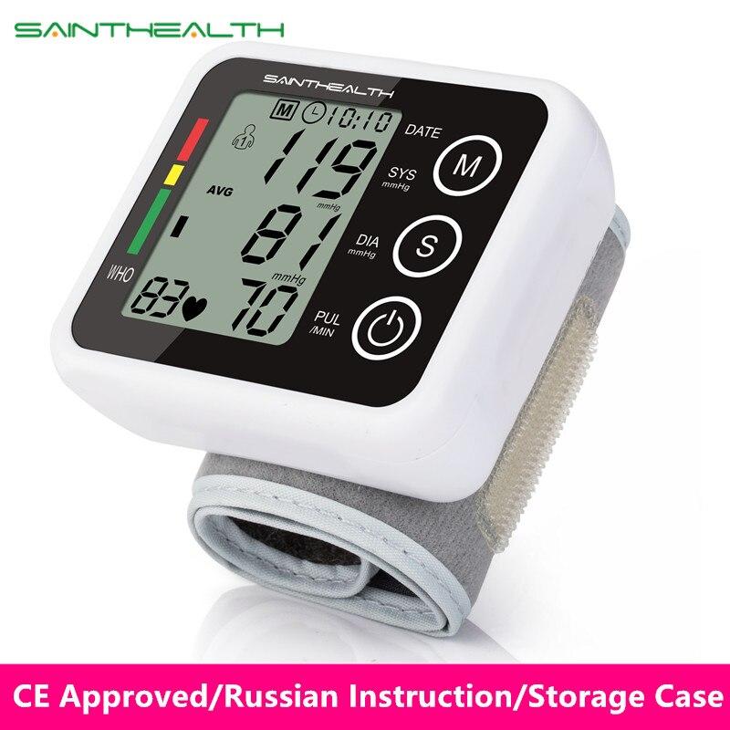 Neue Gesundheit Pflege Deutschland Chip Automatische Handgelenk Digitale Blutdruck Monitor Tonometer Meter für Mess-Und Puls Rate