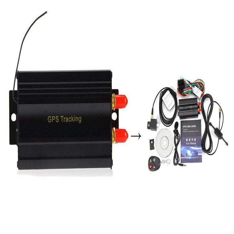 Promotion !!! Car GPS Tracker System GPS GSM GPRS Vehicle Tracker Locator TK103B with Remote Control SD SIM Card Anti-theft