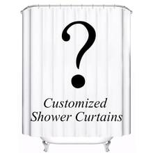 Индивидуальные занавески для душа из водонепроницаемой полиэфирной ткани 4 размера занавески для ванной комнаты с 12 крючками