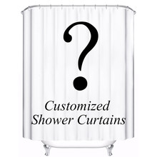 Customized Shower Curtain Waterproof Polyester Fabric 4 Sizes Shower Curtain For The Bathroom With 12 Hooks(China)