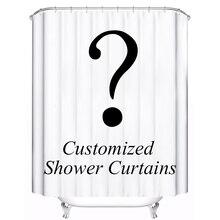 Индивидуальные занавески для душа водостойкая полиэфирная ткань 4 размера занавеска для душа для ванной комнаты с 12 крючками