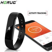 HORUG Smart Wristband Fitness Tracker Bracelet Band Bluetooth Sleep Monitor Watch Sport For ios Android Phone