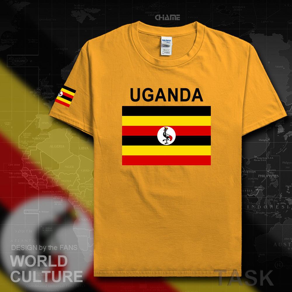 Uganda Ugandan men t shirts 2017 <font><b>jerseys</b></font> nation team tshirt 100% cotton t-shirt gyms clothing tees country sporting flags <font><b>UGA</b></font> image