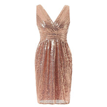 c1d1fa01f5 Buy sequin dress rose gold and get free shipping on AliExpress.com