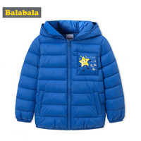 Balabala Children Jackets for Boys Winter White Duck down coat Baby Winter cotton Coat Kids warm outerwear snowsuit Overcoat Clo