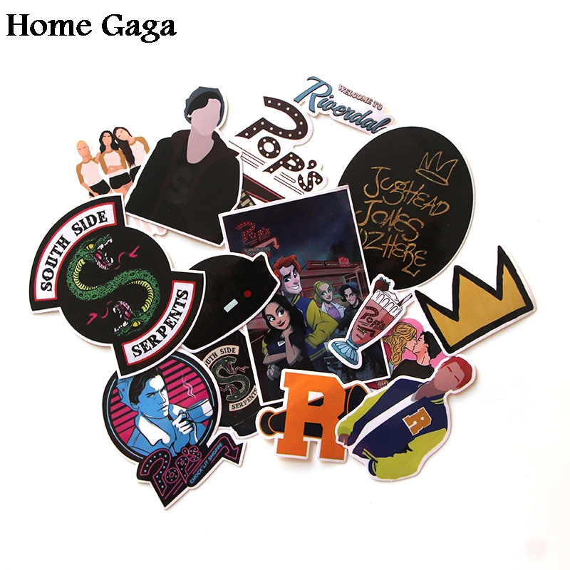 Homegaga 15pcs/set Riverdale Stickers For Laptop Skateboard Home Decoration Car Styling Vinyl Decals Doodle Cool DIY Works D0912