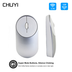 CHUYI 2.4Ghz Wireless Mouse Silent Click Button Computer Mice Ergonomic 1600DPI USB Optical Gaming Mause For Xiaomi PC Notebook