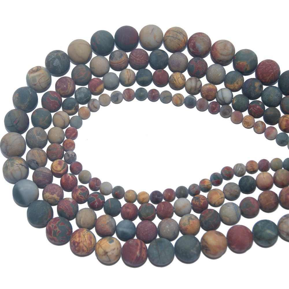 סיטונאי משעמם פולני מט טבעי אבן חרוז Amethysts Agates עבור תכשיטי ביצוע קסם DIY צמיד שרשרת 4 6 8 10 MM
