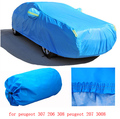 for peugeot 307 206 308 peugeot 207 407 3008 grey blue solid waterproof double layers car covers Dust snow anti uv four season