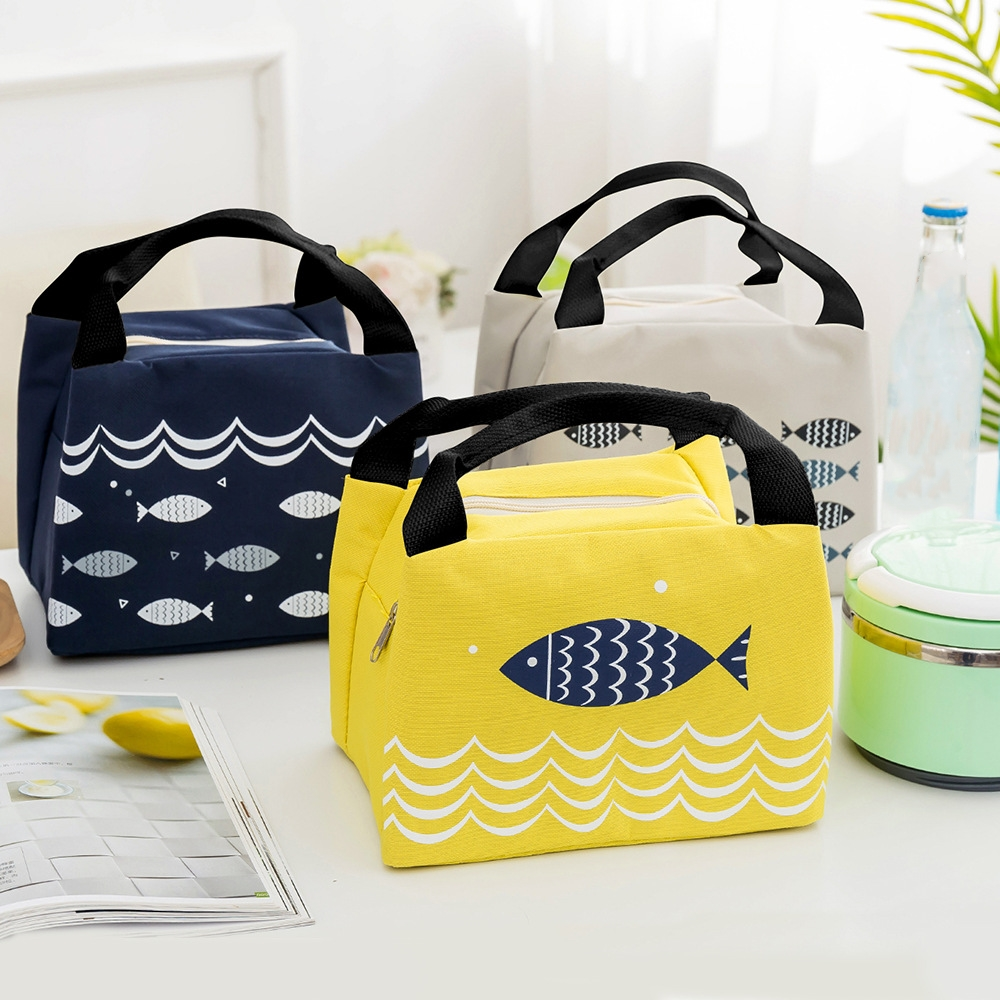eTya New Lunch Bag Portable Fashion Insulated Thermal Food Picnic Lunch Bags for Women kids Men Cooler Tote Bag Case