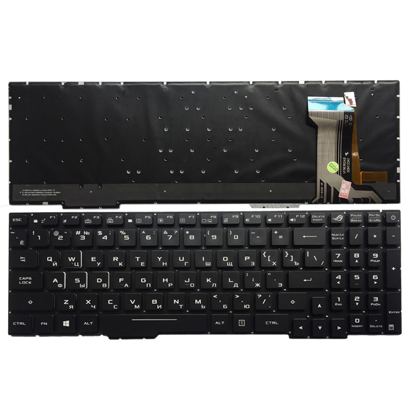 Russian Laptop Keyboard For ASUS GL553 GL553V GL553VW ZX553VD ZX53V ZX73 FX553VD FX53VD FX753VD FZ53V RU keyboard with backlit ru russian for samsung sf411 sf410 laptop keyboard with c shell