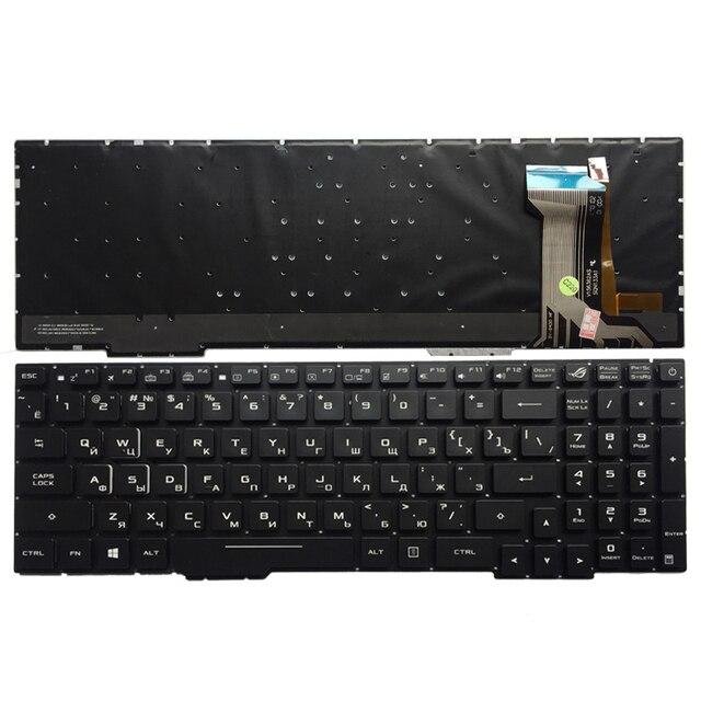 Russische Laptop Tastatur Für ASUS GL553 GL553V GL553VW ZX553VD ZX53V ZX73 FX553VD FX53VD FX753VD FZ53V RU tastatur mit backlit