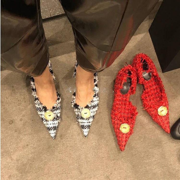 Chaussures Pic As Rétro Piste Talon Femmes Design Talons Stylé Pointu De Marque 2018 as Femme Pic Bout Bouton Sexy Fête Pompes À wXpqZfcg