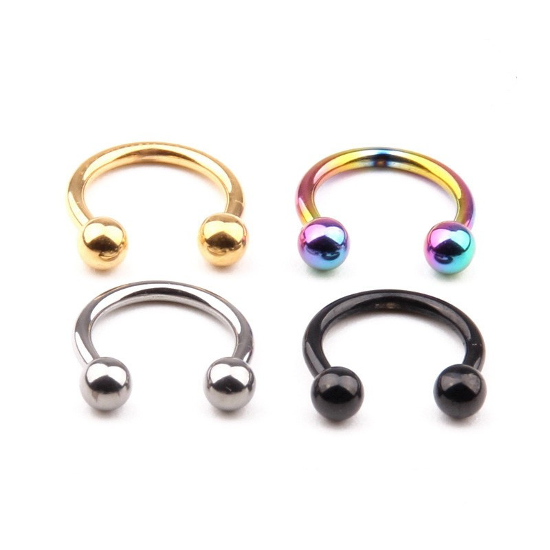 Gold IP Captive Ring Body Piercing Jewellery