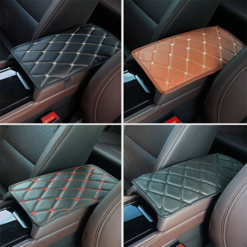 Image 5 - SEAMETAL Car Armrest Cover Console Arm Rest Covers Soft Leather Sponge Protective Pad Mats Waterproof Auto Accessories Universal-in Automobiles Seat Covers from Automobiles & Motorcycles