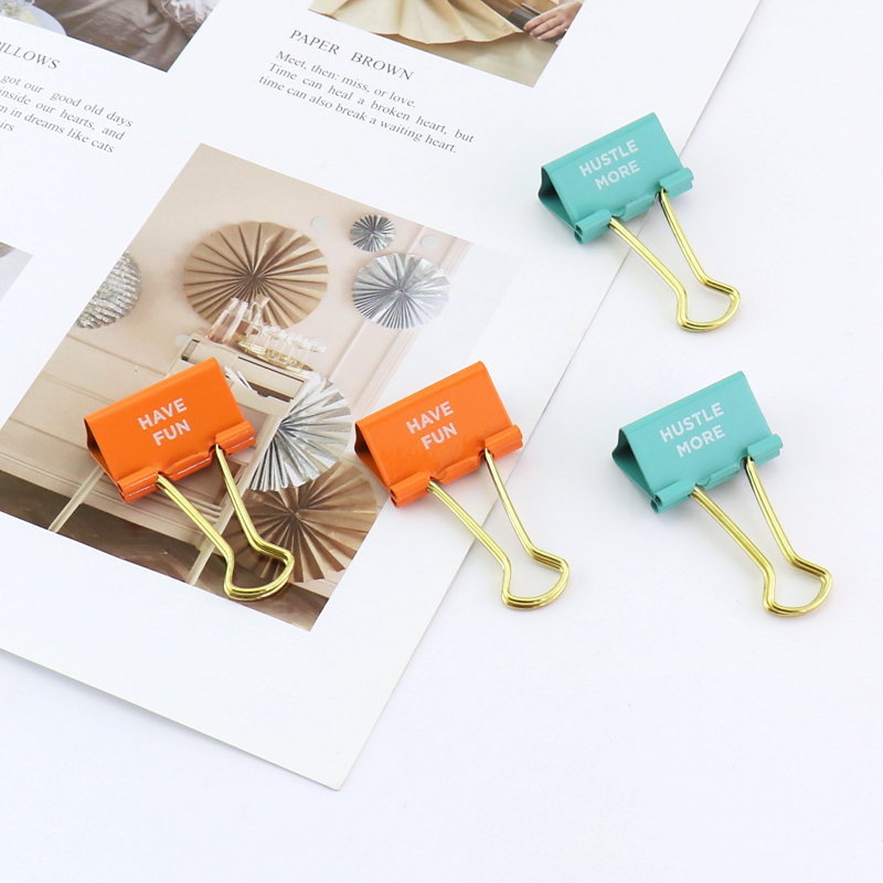 TUTU 32mm Binder Clips Big Clips Document Paper Clips 6pcs/lots Holder Fashion Office Accessories School Supplies H0239