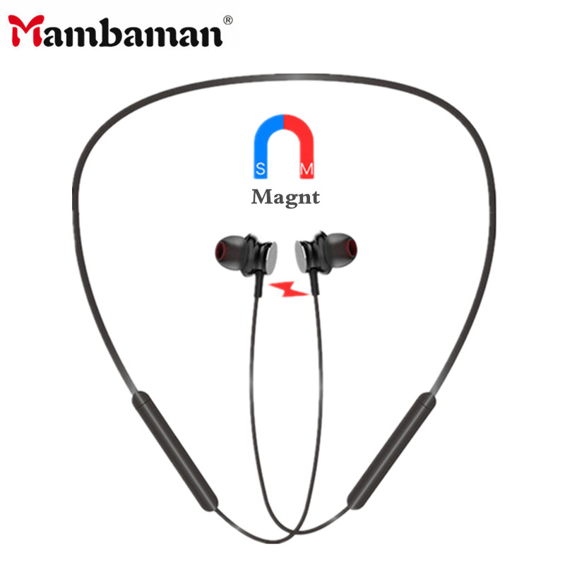 Mambaman New Neckband Bluetooth Earphone Wireless headset For Xiaomi iPhone earbuds stereo auriculares fone de ouvido with MIC